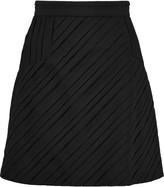 Just Cavalli Pintucked crepe de chine mini skirt