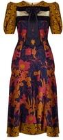 Roksanda Masic neck-tie parsley-print silk dress