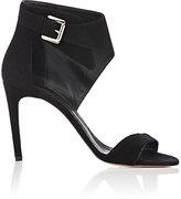 Jean-Michel Cazabat WOMEN'S OLIVIA SUEDE ANKLE-CUFF SANDALS-BLACK SIZE 8.5