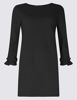 M&S Collection Cotton Rich Ruffle Cuff 3/4 Sleeve Tunic
