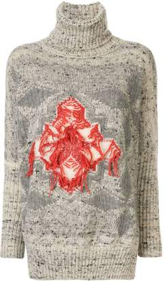 Lorena Antoniazzi oversized intarsia sweater