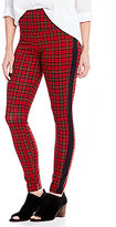 Intro Teri Love the Fit Solid Side Panel Plaid Print Leggings