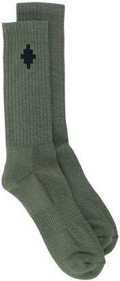 Marcelo Burlon County of Milan Cross mid-high socks