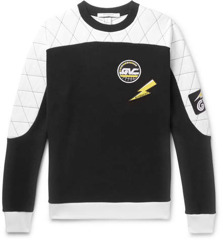Givenchy Appliquéd Quilted Cotton-Jersey Sweatshirt