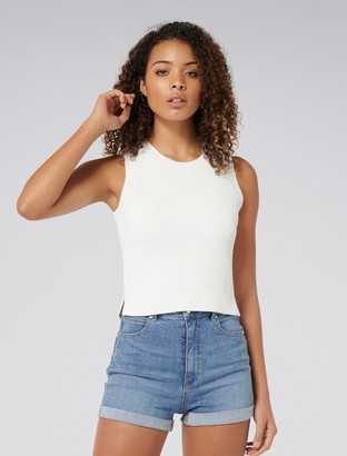 Forever New Ainsly Crop Tank - Porcelain - m