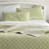 Crate & Barrel Raj Reversible Green Quilts and Pillow Shams