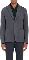 Z Zegna Men's Double-Face Jersey Two-Button Sportcoat-GREY