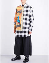 J.W.Anderson Tapestry and checked regular-fit wool shirt