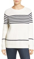 Amour Vert Women's 'Harmony' Stripe Merino Wool Sweater