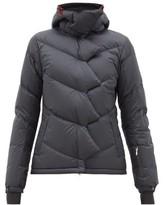 Perfect Moment Chevron Super Down-filled Ski Jacket - Womens - Black
