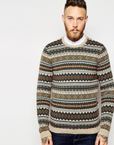 Asos Jumper With Fairisle Pattern