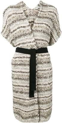 Brunello Cucinelli knitted short sleeve cardigan