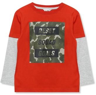 M&Co Camo squad goals slogan t-shirt (3-12yrs)