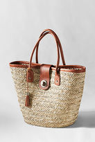 Lands' End Women's Refined Straw Tote