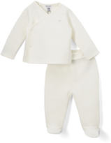 Absorba White Cardigan & Footie Pants - Infant