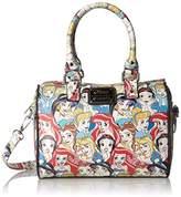 Loungefly Disney Princesses Classic Print Pebble Duffle Convertible Cross-Body Bag