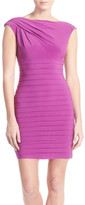 Adrianna Papell Asymmetrical Jersey Sheath Dress