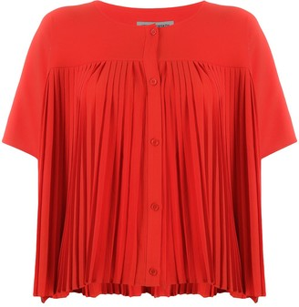 Henrik Vibskov Pleated Panel Button Front Blouse