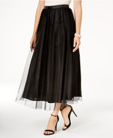 Alex Evenings Mesh-Overlay Maxi Skirt