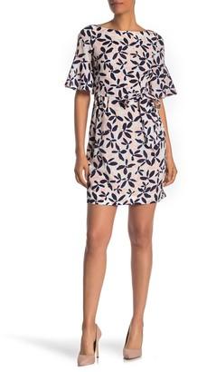 Brinker & Eliza Bell Sleeve Patterned Shift Dress