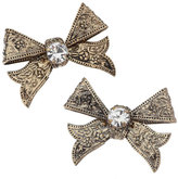 Gold Bow Stud Earring**