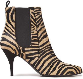 Tabitha Simmons Irwin Zebra-print Calf Hair Ankle Boots