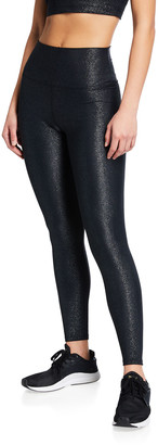 Beach Riot Ayla Glittery Rib-Knit Active Leggings
