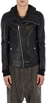 Rick Owens Men's Leather Hooded Bullet Jacket