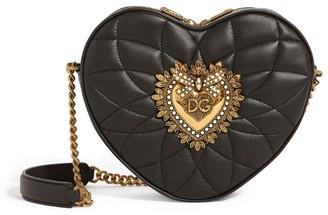 Dolce & Gabbana Mini Leather Devotion Matelasse Heart Bag