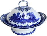One Kings Lane Vintage Doulton Flow Blue Watteau Tureen