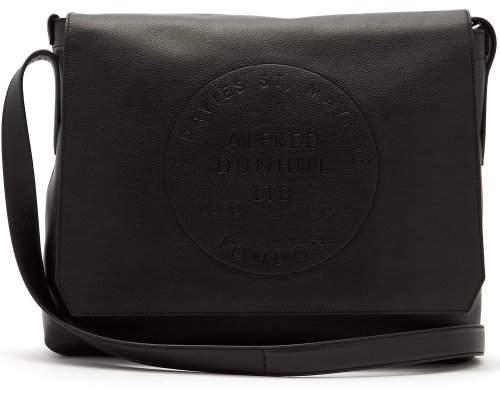 Dunhill Chiltern Logo Debossed Leather Bag - Mens - Black
