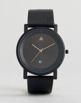 Asos Sleek Watch With Date Window In Black