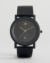 Asos Sleek Watch With Date Window In Black