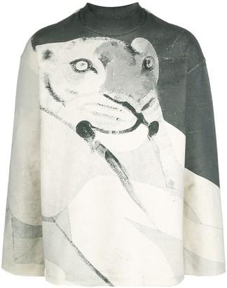 Kenzo Artistic Tiger Print Sweatshirt