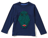 Joules Little Boys 3-6 Chomp Dinosaur Roar Jersey Top