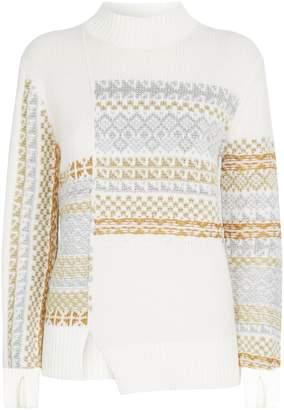3.1 Phillip Lim Knitted Fair Isle Sweater
