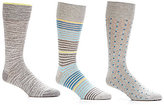 Roundtree & Yorke Gold Label Multi Stripe Crew Dress Socks 3-Pack
