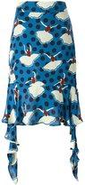 Marni pirouette print asymmetric skirt