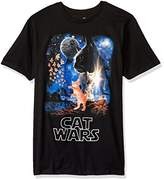 Goodie Two Sleeves Men's Humor Cat Wars Type Adult T-Shirt