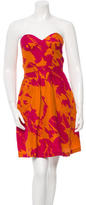 Peter Som Strapless Printed Dress