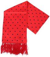 /Black Polka Dot Aviator Silk Scarf by Knightsbridge Neckwear