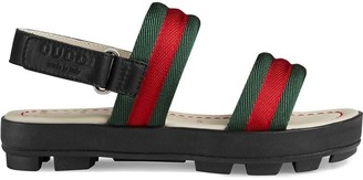 Gucci Kids Children's leather and Web sandal