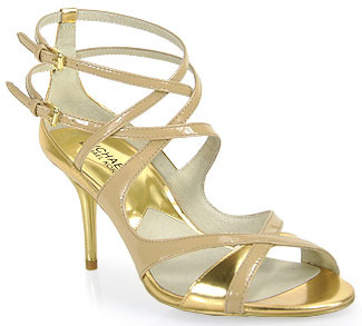 Michael Kors Michael by Michela - Patent Leather Mid Sandal in Nude