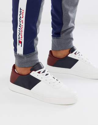 Brave Soul paneled trainers-White