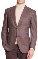 Canali Mini Check Wool-Cashmere Sportcoat