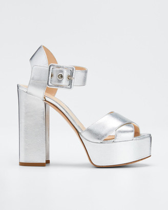 Nicholas Kirkwood Essential Platform Metallic Sandals