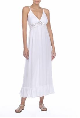 BOHO ME Lace V-Neck Spaghetti Straps Maxi Dress