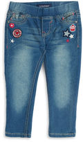 Vigoss Girls 2-6x Skinny Leg Patch Jeans