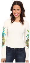 Nicole Miller Pineapple Intarsia Long Sleeve Knit