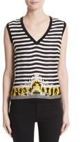 Versace Women's Catwalk Print Wool & Silk Shell